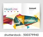 business triangle design modern ... | Shutterstock .eps vector #500379940