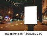 blank mock up of vertical... | Shutterstock . vector #500381260
