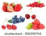 blueberries  strawberries ...   Shutterstock . vector #500390743