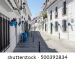 Quiet Street Of Mijas Town In...