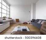 interior view of a modern... | Shutterstock . vector #500396608