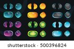 set of glossy colorful buttons...