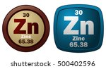 two zinc signs  vector... | Shutterstock .eps vector #500402596