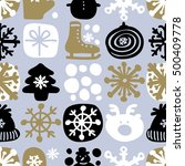 christmas abstract vector... | Shutterstock .eps vector #500409778