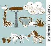 africa animals set | Shutterstock .eps vector #500415520