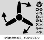 three bladed screw rotation...   Shutterstock .eps vector #500419570