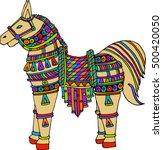 vector design of horse | Shutterstock .eps vector #500420050