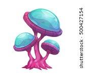fantasy cartoon mushroom. magic ... | Shutterstock .eps vector #500427154