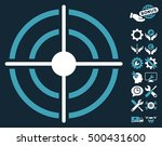 target pictograph with bonus... | Shutterstock .eps vector #500431600