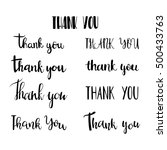 thank you  collection of labels.... | Shutterstock .eps vector #500433763