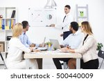 group of business people having ... | Shutterstock . vector #500440009