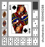 playing cards of spades suit... | Shutterstock .eps vector #500440288