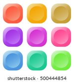 colorful glossy button design...