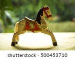 Vintage Wooden Horse Toy