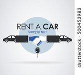 logo rent a car  two hands... | Shutterstock .eps vector #500453983