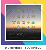 sacred geometry. set of minimal ... | Shutterstock .eps vector #500454520