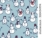 vector seamless pattern with... | Shutterstock .eps vector #500454994