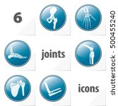 six human joints icons ankle... | Shutterstock .eps vector #500455240