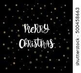 christmas card  hand...   Shutterstock .eps vector #500458663