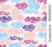 seamless pattern with clouds in ... | Shutterstock .eps vector #500460544