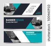 set of blue horizontal business ...   Shutterstock .eps vector #500460910