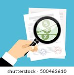 contract inspection concept... | Shutterstock .eps vector #500463610