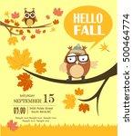 hello fall card | Shutterstock .eps vector #500464774