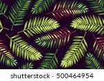 seamless pattern with palm... | Shutterstock . vector #500464954
