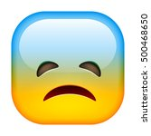 sad emoticon. unhappy smile.... | Shutterstock .eps vector #500468650