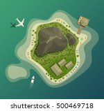island or isle with beach and... | Shutterstock .eps vector #500469718