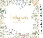 hand drawn vintage background...   Shutterstock .eps vector #500470393