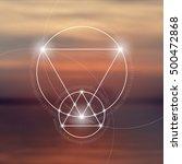 sacred geometry symbol on...   Shutterstock .eps vector #500472868