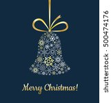 greetings card with christmas... | Shutterstock .eps vector #500474176
