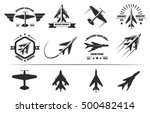 military airplane icons with... | Shutterstock .eps vector #500482414
