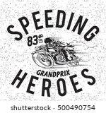 vintage motorbike race   hand... | Shutterstock .eps vector #500490754