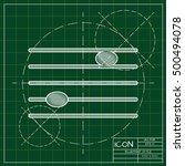 vector blueprint music icon .... | Shutterstock .eps vector #500494078