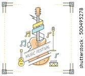 guitar  music festival poster ... | Shutterstock .eps vector #500495278