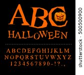 halloween font. curves of... | Shutterstock .eps vector #500500900