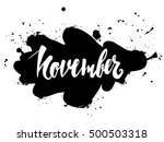 november calligraphy | Shutterstock .eps vector #500503318