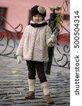 Little Fashionable Girl In War...