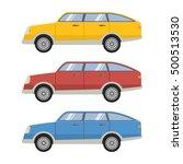 vector set of flat various city ... | Shutterstock .eps vector #500513530