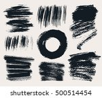vector set of hand drawn brush... | Shutterstock .eps vector #500514454