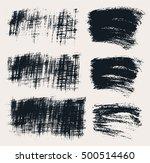vector set of hand drawn brush... | Shutterstock .eps vector #500514460