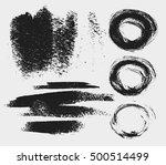 vector set of hand drawn brush... | Shutterstock .eps vector #500514499
