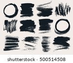 vector set of hand drawn brush... | Shutterstock .eps vector #500514508