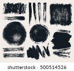 vector set of hand drawn brush... | Shutterstock .eps vector #500514526