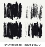vector set of hand drawn brush... | Shutterstock .eps vector #500514670