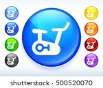 exercise bike on colorful round ...   Shutterstock .eps vector #500520070