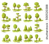 forest flat elements set with... | Shutterstock .eps vector #500520388