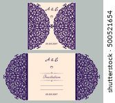 wedding invitation or greeting... | Shutterstock .eps vector #500521654